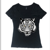 Tiger T-shirt - range of colours -womens' scoop neck