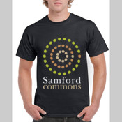 Samford Commons - central logo - Men's 'Gildan' Regular Fit Sturdy Cotton T Shirt